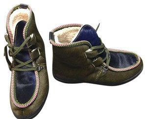 Penelope Chilvers navy/green Boots