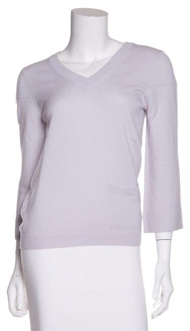 Item - Cashmere V-neck Lilac Sweater