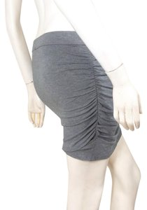 Moda International Ruched Mini Mini Skirt gray