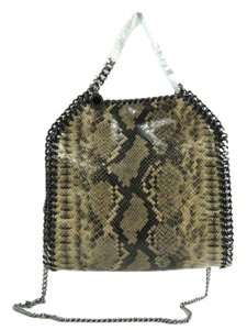Stella McCartney Mini Faux-python Tote in Nude-Dust