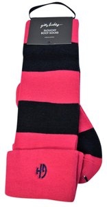 Gilly Hicks Wide Stripe Slouchy Boot Socks with Embroidered Cuff