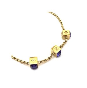 Louis Vuitton Gold-Tone Swarovski Gamble Necklace