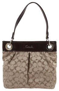 Coach Crossbody Brown Fabric Signature Shoulder Bag