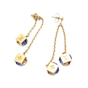 Louis Vuitton Gold-Tone Swarovski Gamble Earrings