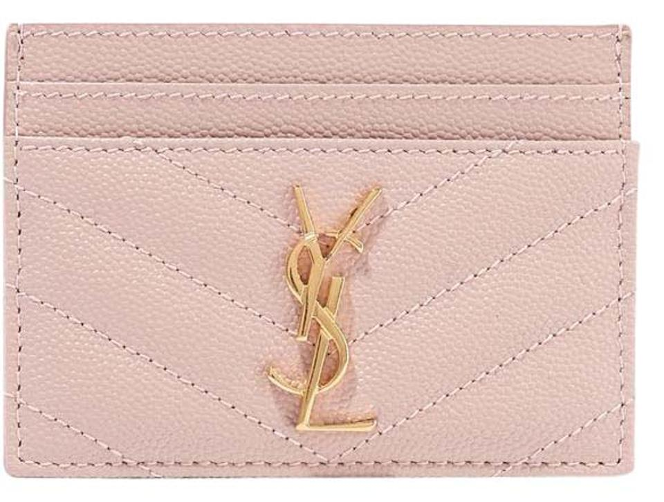 25adc072e32 Saint Laurent Pink New Ysl Card Holder Wallet - Tradesy