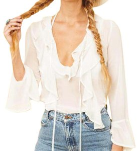 For Love & Lemons Top white