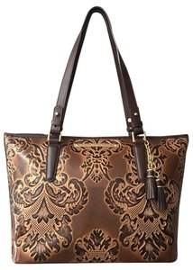 Brahmin Fresco Hard To Find Leather Tote in Brown