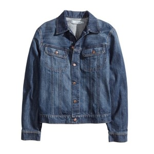 H&M Navy Womens Jean Jacket