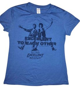 Lootcrate Printed Excellent Quote Movie T Shirt Blue