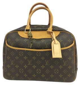 Louis Vuitton Lv Monogram Deauville Tote in brown