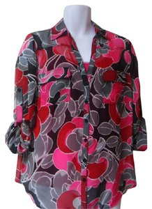 New York & Company Top bright rose