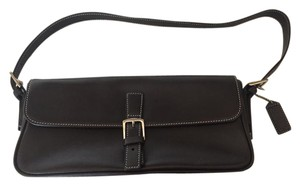 Coach Classic Smooth Leather Baguette Shoulder Bag