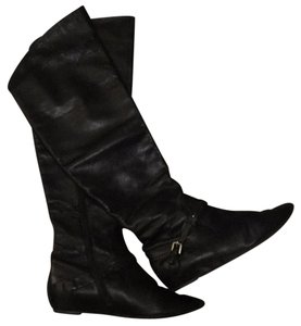 Via Spiga Riding Knee Leather Tall Black Boots