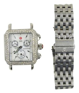 Michele 2.1 ctw Diamond Michele Deco Stainless Steel Watch Mother of Pearl