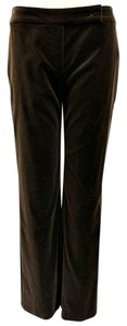 Escada Velour Chocolate Straight Pants Brown