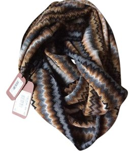 Missoni Zigzag wool and acrylic infinity scarf