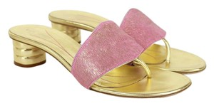 Kate Spade gold & pink Sandals