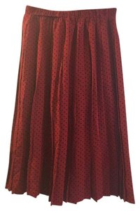 Anthropologie Hi There Karen Walker Pleated Skirt Deep red