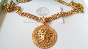 Versace VERSACE MEDUSA ICON NECKLACE ITALIAN CRYSTAL RHINESTONE ACCENT