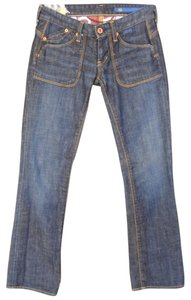 AG Adriano Goldschmied Xs Denim Cotton Blend Straight Leg Jeans-Dark Rinse