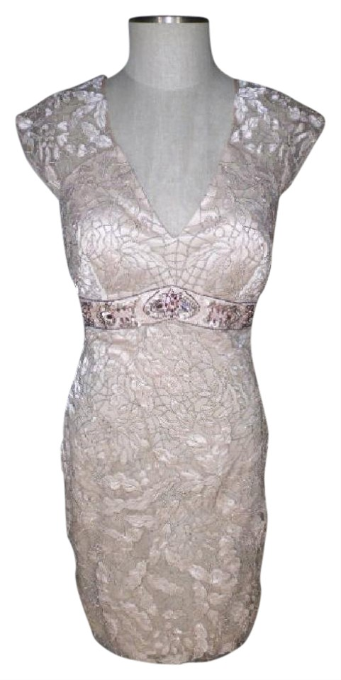 2d3e56433a0 Sue Wong Blush N1148 Lace Beaded Cap Sleeve Short Cocktail Dress ...