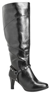 Avenue Studded Kneehigh Stiletto Insulated Warm Black Boots