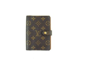 Louis Vuitton Agenda PM Monogram Canvas Leather Notebook Planner Cover w/ Ruler