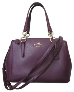 Coach New With Tag Satchel in plum