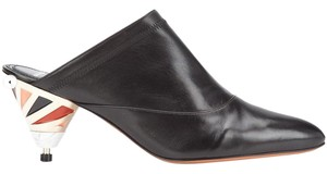 Givenchy Slip-on Pointed Toe Leather Black Mules