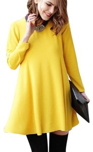 Zara short dress yellow Mustard A-line on Tradesy