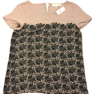 Ann Taylor LOFT Top taupe and black