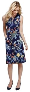 Lands' End short dress blue, with multi-color flowers on Tradesy
