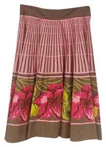 Anthropologie Skirt Pink, Green, Brown