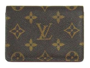 Louis Vuitton Porte 2 Cartes Monogram Canvas Leather Slim Credit ID Wallet