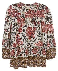 Lucky Brand Top White, Red, Blue, Gold, Tan