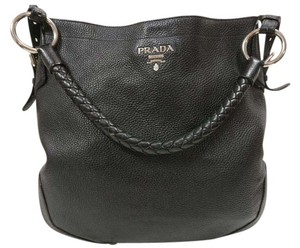 Prada Leather Vitello Daino Hobo Bag