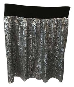 Romeo & Juliet Couture Mini Skirt silver