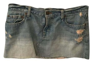 Abercrombie & Fitch Mini Skirt light blue jean