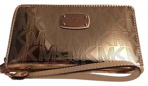 Michael Kors Jet Set Item Large Flat MF phone case Wristlet Wallet Grayson NWT