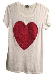 Wildfox Heart Valentine T Shirt Red and White