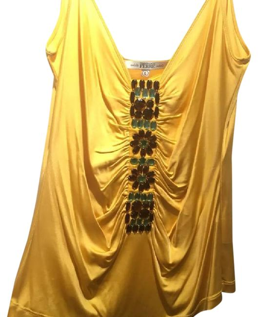 Item - Cami with Stones Yellow Top