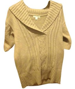 Banana Republic Cable V Neck Short Sleeve Sweater