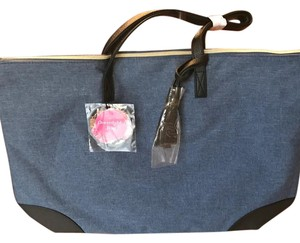 Sally's Beauty Tote in denim and black
