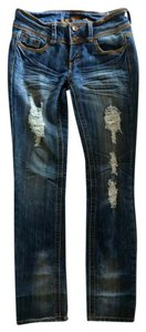 Almost Famous Clothing Distressed Destroyed Deconstructed Skinny Skinny Jeans-Distressed