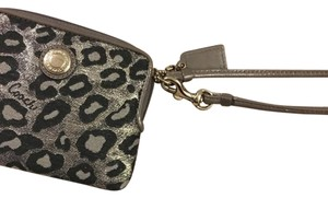 Coach Wristlet in grey leopard print