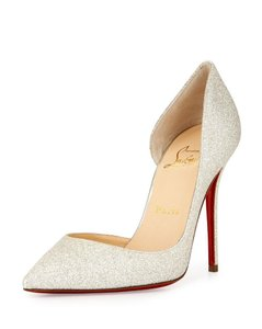 Christian Louboutin Light Ivory Gold Pumps