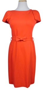 MILLY Classic Knit Belted Retro Stretchy Dress