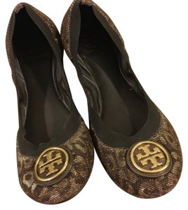 Tory Burch brown, leopard print Flats