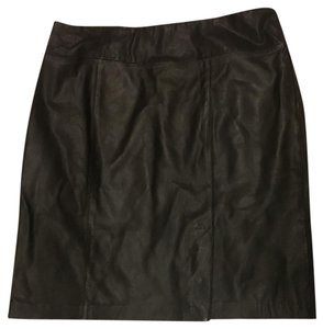 Jaclyn Smith Size 18 Pencil Ladies Skirt Black Leather