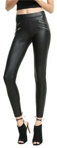 Express Zippers Black Leggings